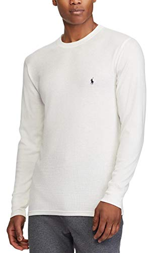 Polo Ralph Lauren Mens Long Sleeve Waffle Knit Crewneck, S, -