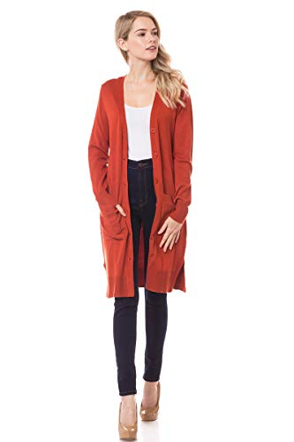 Lotiful Long Cardigans Duster with Pocket Button Up Lightweight Sweater Cardigans for Women