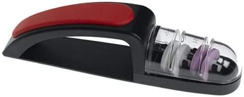 MinoSharp 440 BR Ceramic Wheel Water Sharpener Plus, Black Red