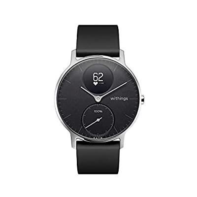 Withings / Nokia | Steel HR Hybrid Smartwatch - Activity Tracker with Connected GPS, Heart Rate Monitor, Sleep Monitor, Water Resistant Smart Watch (Renewed)