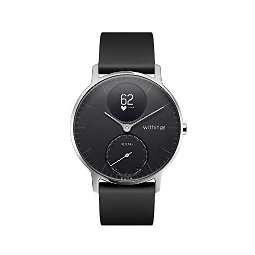 Withings / Nokia   Steel HR Hybrid Smartwatch - Activity Tracker with Connected GPS, Heart Rate Monitor, Sleep Monitor, Water Resistant Smart Watch (Renewed)