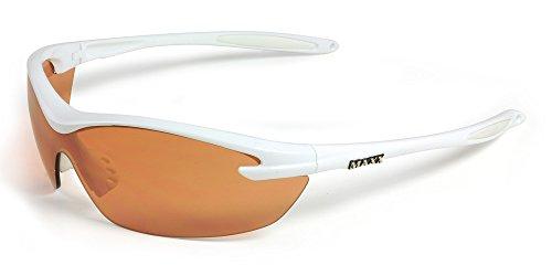 2017 Maxx Sunglasses GT White Frame Amber HD TR90 - Maxx Sunglasses