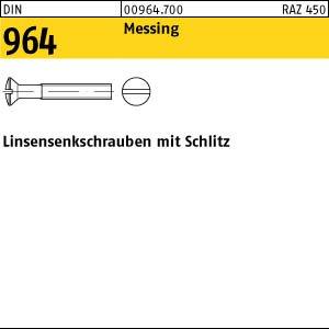 200 Schlitz Linsensenkschrauben DIN 964 Messing M5x10