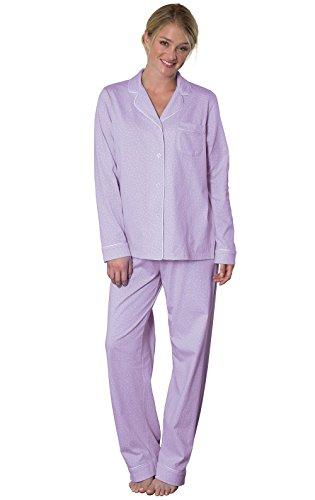 PajamaGram Womens Pajamas Soft Cotton - Cute Pajamas for Women, Lavender, XL, 18 -