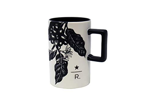 Starbucks Reserve Black Outline Leaves Print Mug, 12 Oz ()