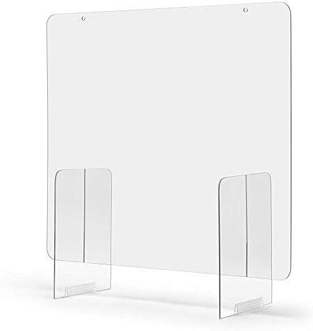 azurely Nieschutz, klarer Acryl-Plexiglasschild-Shop-Schutzschirm für Schalter und Transaktionsfenster, Apotheken, Tankstellen und Geschäfte