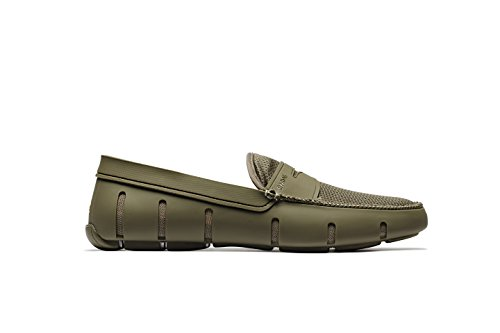 Breeze Mens Shoes - SWIMS Men's Penny Loafer for Pool and Summer - Khaki, 8