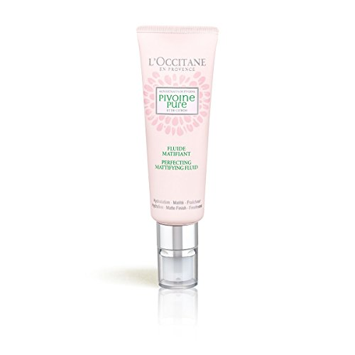 L'Occitane Peony Perfecting & Mattifying Fluid for Combination To Oily Skin, 1.7 oz.