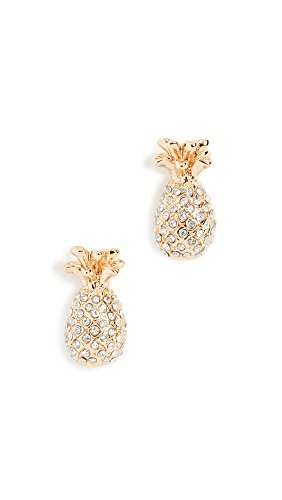 Kate Spade New York Womens Pave Pineapple Mini Stud Earrings Clear,Gold Deal (Large Image)