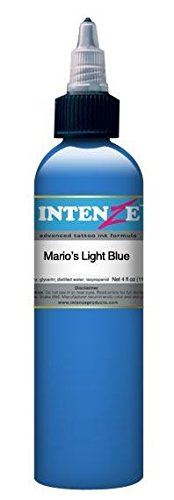 (Intenze Tattoo Ink Mario's Light Blue 4)