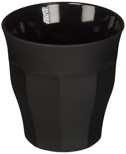 Duralex 1027SR06S/6 Glass Tumbler, 8.75 oz, Matte Black (Soft Tumbler Touch)