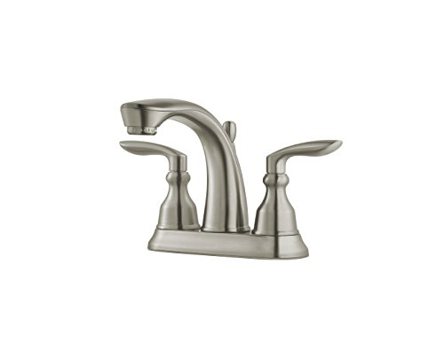 Price Pfister LG48CB1K Pfister Avalon Centerset Bath Faucet, 3-Hole, Brushed Nickel (Faucet Avalon Kitchen)