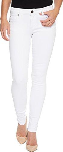 KUT from the Kloth Women's MIA toothpick Skinny In Optic White Optic White 0