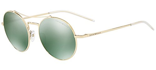 Emporio Armani EA2061 30136R Pale Gold EA2061 Round Sunglasses Lens Category 3