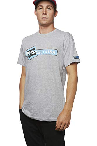 DC Apparel Men's Ken Block Founders Series Short Sleeve T-Shirt, Grey Heather KB Linked sos, ()