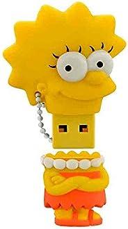 Pen Drive Lisa Simpsons 8GB USB Leitura 10MB/s e Gravação 3MB/s Multilaser - PD072