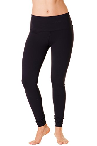 90 Degree By Reflex   High Waist Power Flex Legging   Tummy Control   Black Small