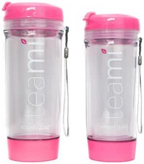 INFUSER TEA TUMBLER by Teami Blends - 100% BPA FREE - Best for Loose Leaf, Fruit Infusions, Coffee, and Smoothies - Double Walled Bottle - Hot & Cold - Great Gift! (Pink - 600 ML)