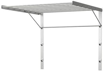 Ikea Grundtal – – Tendedero de pared de acero inoxidable; (56 x 54 cm): Amazon.es: Hogar