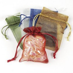 Amazon.com: SMALL SHEER MESH DRAWSTRING GIFT BAGS (1 DOZEN) - BULK ...