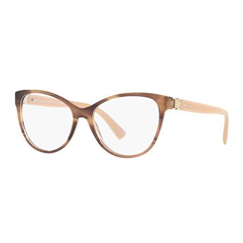 Bvlgari Women's BV4151 Eyeglasses Striped Brown 54mm ()