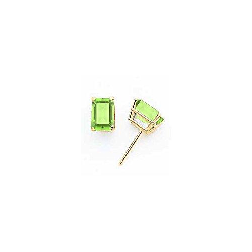 14k 7x5mm Emerald Cut Peridot ()