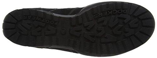 Dockers by Gerli 36ht001-204 - Zapatillas Hombre Negro (Schwarz/grau)