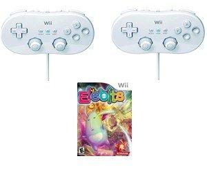 2 Wii Classic Controllers + Elebits Game