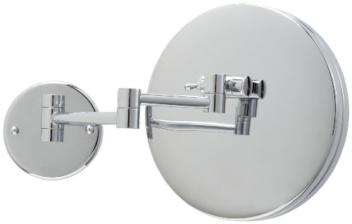 Jerdon JD12CF 9-Inch Adjustable Wall Mount Makeup Mirror with 3x Magnification, Chrome Finish by Jerdon (Image #2)