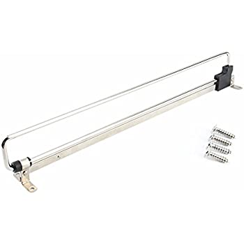 Yosoo Retractable Wardrobe Closet Pull Out Rod Clothes Hanger Towel Rail /  Extending Rail / Storage