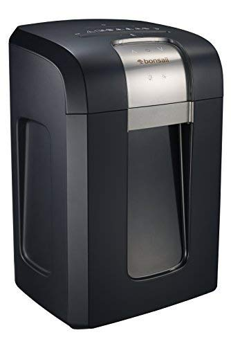 Bonsaii EverShred Pro 3S30 18-Sheet Cross-Cut Heavy Duty Shredder with 240 Minutes Running Time, 7.9 Gallons Pullout Wastebasket and 4 Casters, Black