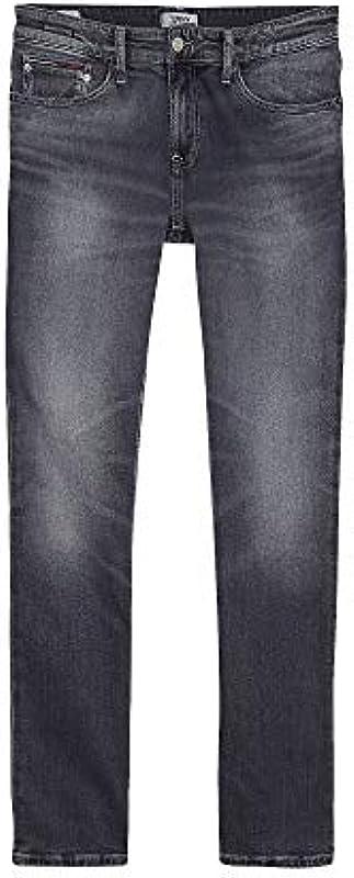 Tommy Jeans dżinsy męskie Scanton Heritage Slim Durban DK BL COM szare - 32/32: Odzież
