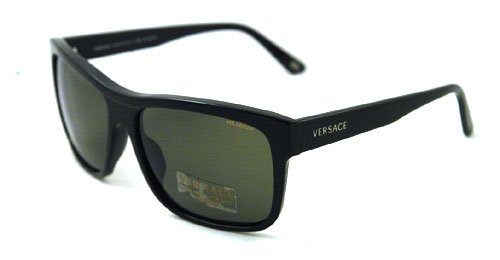 701292de2bd Versace Sunglasses VE4179 GB1 58 Black Crystal Green Polarized 60mm   Amazon.ca  Sports   Outdoors