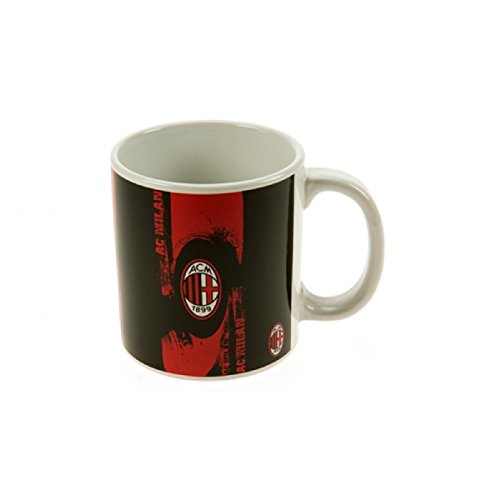 AC Milan Official Soccer Crest Jumbo Mug (One Size) (Black/Red/White)