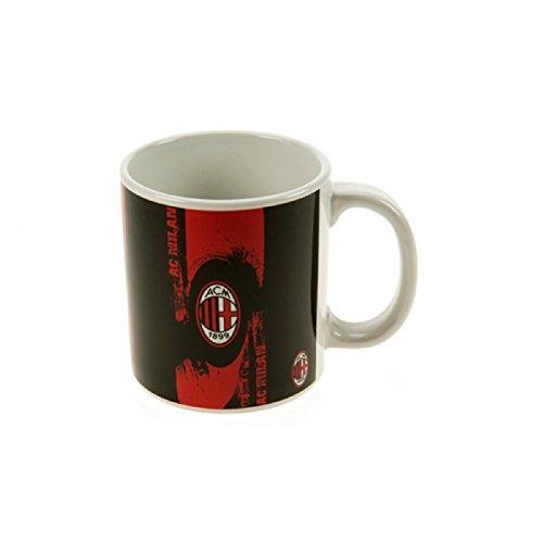 AC Milan Official Soccer Crest Jumbo Mug (One Size) (Black/Red/White) ()