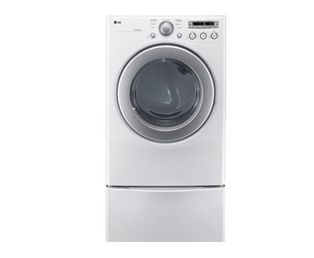 LG DLE2250W7.1 Cu. Ft. White Stackable Electric Front Load Dryer