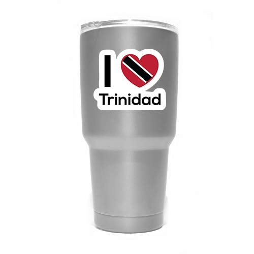 Love Trinidad Flag Decal Sticker Home Pride Travel Car Truck Van Bumper Window Laptop Cup Wall MKS0304 Two 3 Inch Decals