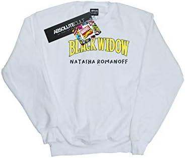 Marvel Herren Black Widow AKA Natasha Romanoff Sweatshirt Weiß X-Large