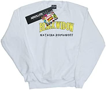 Marvel Herren Black Widow AKA Natasha Romanoff Sweatshirt Weiß XXX-Large