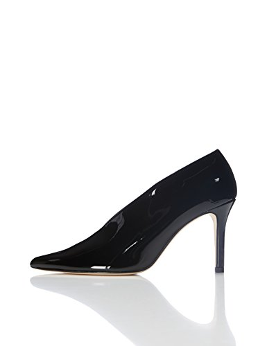 Pump WoMen FIND Toe Shoes Black Closed Stiletto Z6Ozfwq