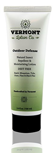 All Natural Insect Repellent, DEET Free - Original Outdoor Defense Moisturizing Lotion 3.4 oz Tube (3.4 Lotion)