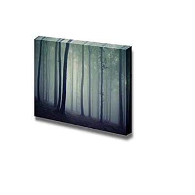 Delightful Craft, Beautiful Scenery Landscape Trees in a Dark Forest with Fog Wall Decor, Quality Creation