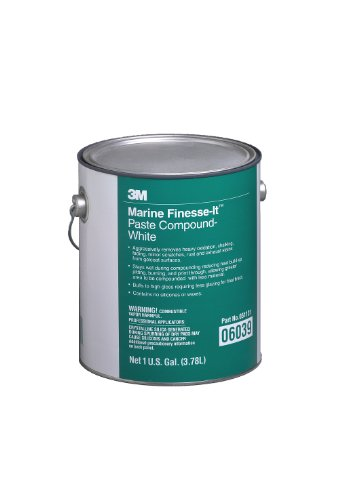 3M 06039 Finesse-it White Marine Paste Compound - 1 Gallon