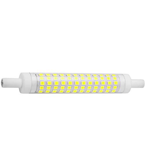 MD Lighting 12W R7S LED Corn Bulb, 1 Pack Daylight White 6000K, 118mm 120 LEDs 1250LM J Type 120W Halogen Bulb Equivalent J118 Double Ended Floodlight for Landscape Light, Floor Lamp, 85-265V ()