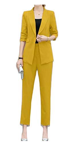 正確さ使役暗殺者chenshiba-JP 女性の2ピーススーツセットビジネスオフィスブレザージャケットパンツ
