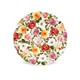 Portmeirion Rose Bouquet Full Cover 8-Inch Plate, Set of Four