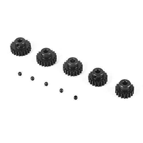 M1 5mm 18T Pinion Motor Gear, Surpass Hobby 5Pcs M1 5mm 18T 19T 20T 21T 22T Metal Pinion Motor Gear Set for 1/8 RC Car Truck Brushed Brushless Motor ()