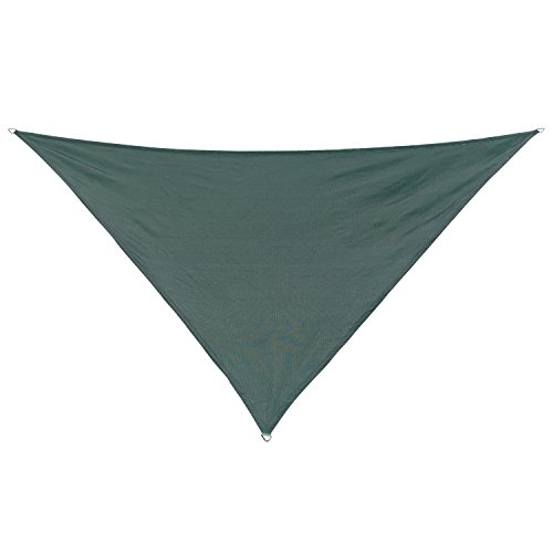 California Sun Shade 473549 Coolaroo Triangle Shade Sail, Heritage Green