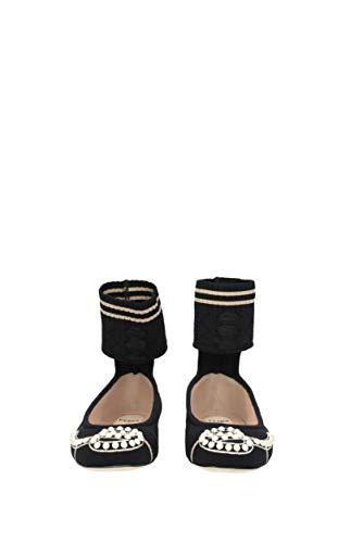 Fendi Ballerines Noir Eu Femme 8f6512a15p Tissu w0fpzqF