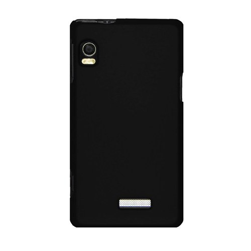A955 Snap (Amzer Rubberized Snap-On Crystal Hard Case for Motorola DROID 2 A955 - Black)
